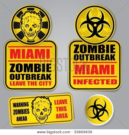 Miami Zombie Outbreak Warning Set