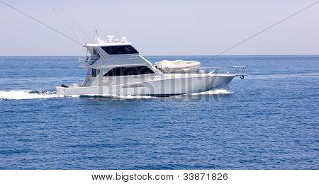 Sportfisher Yacht At Sea