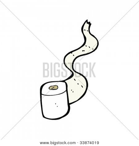 cartoon loo roll