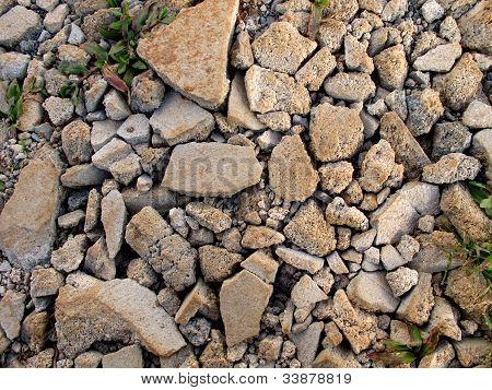 Cracked Concrete On Ground