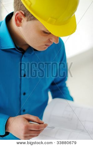 Closeup of a foreman