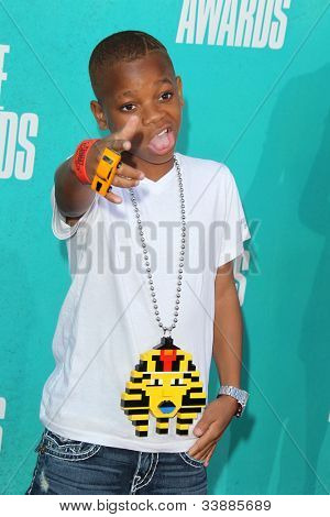 LOS ANGELES - JUN 3:  Lil Niqo arriving at the 2012 MTV Movie Awards at Gibson Ampitheater on June 3, 2012 in Los Angeles, CA