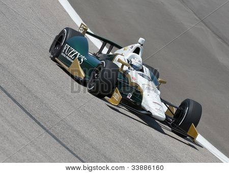 Ft WORTH, TX - JUN 08:  Ed Carpenter (20) prepares to qualify for the Firestone 550 race at the Texas Motor Speedway in Fort Worth, TX on June 08, 2012.