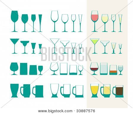 Full and empty glass collection