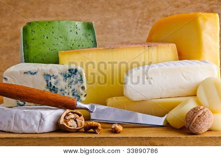 Different Cheese Food