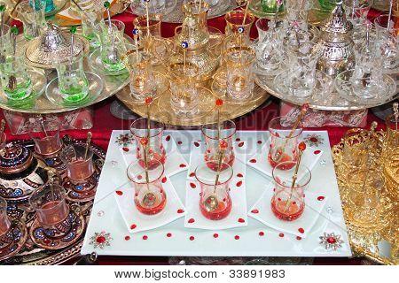 tea sets at grand bazaar