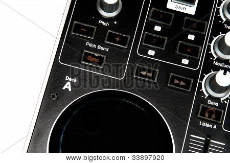 Dj controller close up