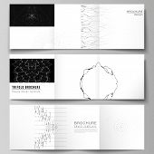 Minimal Vector Editable Layout Of Square Format Covers Design Templates For Trifold Brochure, Flyer, poster