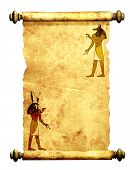 stock photo of horus  - Scroll with Egyptian gods images  - JPG