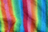 Bright Color Texture From Abstract Distortion On Striped Fabric poster