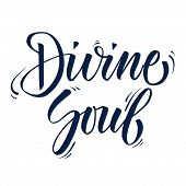 Calligraphy Phrase Eternal Soul. Hand Drawn Lettering Eternal Soul For T-shirt Design, Tattoo, Print poster