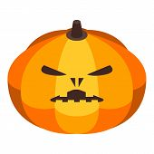 Lantern Pumpkin Icon. Isometric Of Lantern Pumpkin Vector Icon For Web Design Isolated On White Back poster