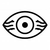 Eye With Vessels Icon. Outline Eye With Vessels Vector Icon For Web Design Isolated On White Backgro poster