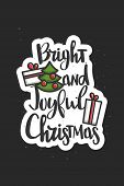 Christmas Wishes Lettering In Doodle Style. Vector Festive Illustration. Christmas Wish Text Letteri poster