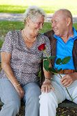 foto of married couple  - older elderly couple in love - JPG