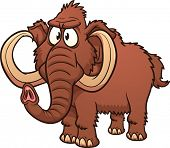 stock photo of mammoth  - Cartoon mammoth - JPG