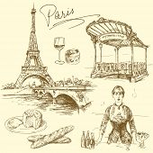 Paris - hand drawn collection