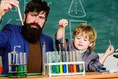 Chemical Experiment. Genius Minds. Genius Toddler Private Lesson. Teacher Child Test Tubes. Genius K poster