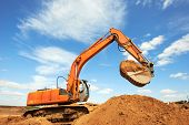 picture of backhoe  - track - JPG