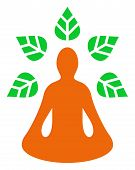 Ioga Wellness Raster Icon. Flat Ioga Wellness Pictogram Is Isolated On A White Background. poster