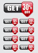Get percent off, banners / labels
