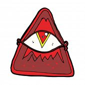 picture of all seeing eye  - cartoon all seeing eye sign - JPG