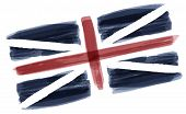 Great Britain National Day. Uk Flag With Stripes And National Colors. Union Jack. Background Illustr poster