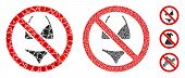 No Swimsuit Icon Mosaic Of Tuberous Items In Variable Sizes And Color Tints, Based On No Swimsuit Ic poster