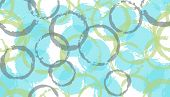 Funky Watercolor Circles Geometry Fabric Print. Round Shape Splotch Overlapping Elements Vector Seam poster