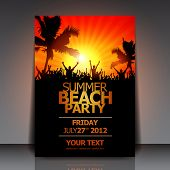 Sommer Beach Party Flyer - Vektor-Design