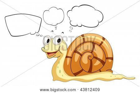 Illustration of the empty callouts with a snail on a white background