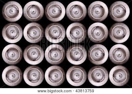 Photo of Gas cylinders - Top view