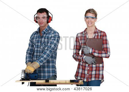 craftsman and craftswoman together