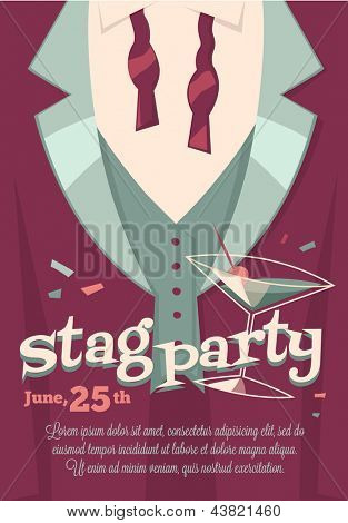 Stag party poster