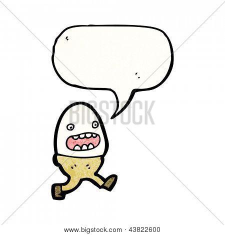 cartoon runny egg