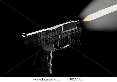 The black gun