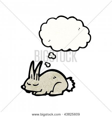 cartoon little rabbit sleeping