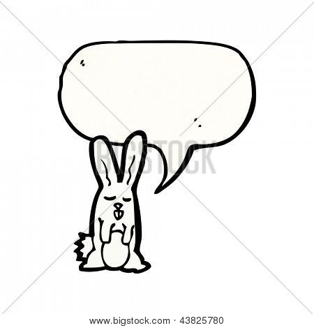 cartoon white rabbit