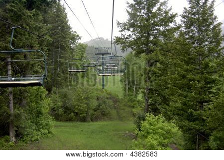 Sundance Ski Lift In Summer