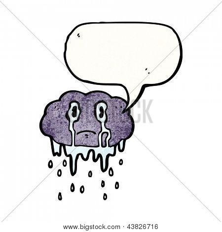 crying raincloud cartoon