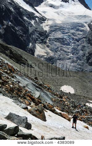 Climbing The Bertol Glacier