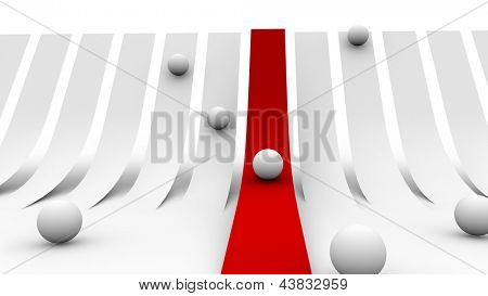 abstract red carpet concept
