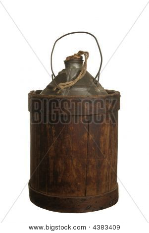 Wood Jacketed Tin Can