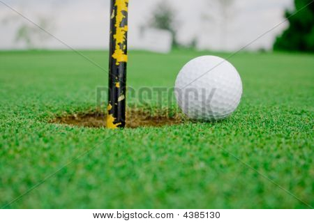 Golf Ball Close To Hole Mirror
