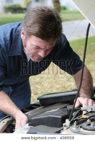Auto Mechanic Under The Hood