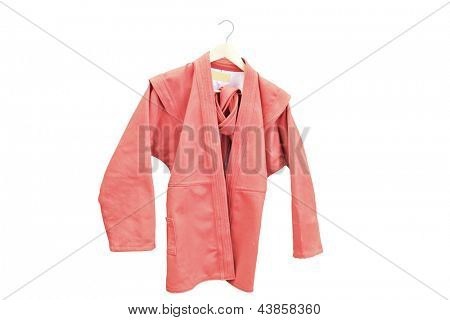 judo suit under the white background