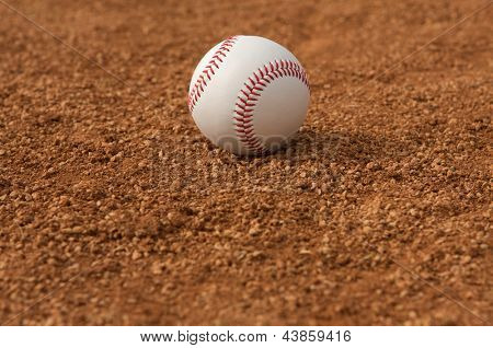 Baseball in the Infield with room for copy below