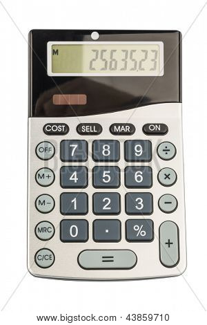 a calculator is located on a white background