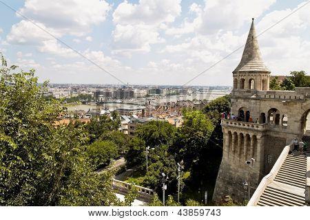 eurtopa, hungary, budapest, fisherman's bastion. one of the landmarks of the city.