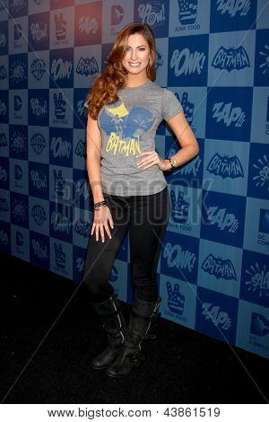 LOS ANGELES - MAR 21:  Katherine Webb arrives at the Batman Product Line Launch at the Meltdown Comics on March 21, 2013 in Los Angeles, CA